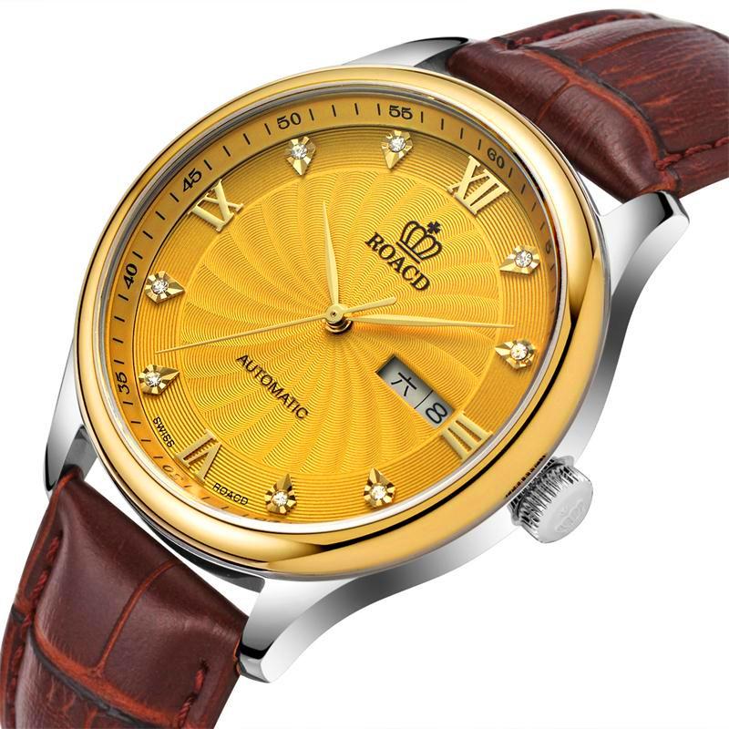 劳莱斯顿非自动机械表超薄皮带男表 防水石英表 手表男 男士手表