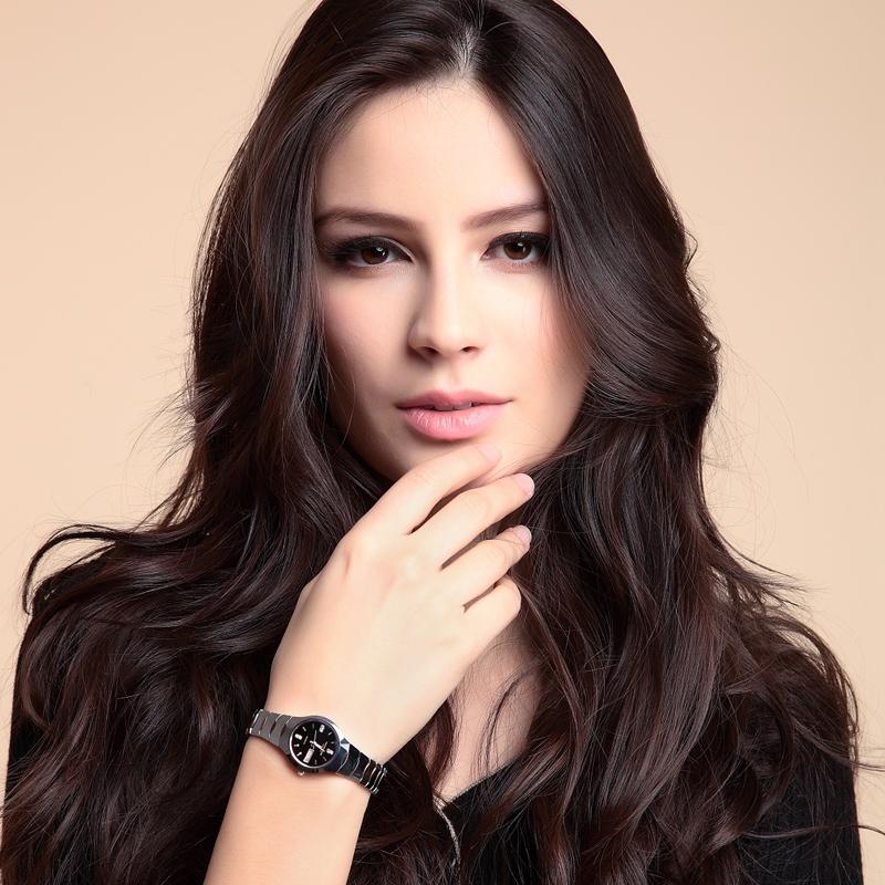 2014新款品牌超薄钨钢女表正品时尚瑞士女士手表女韩版陶瓷石英表