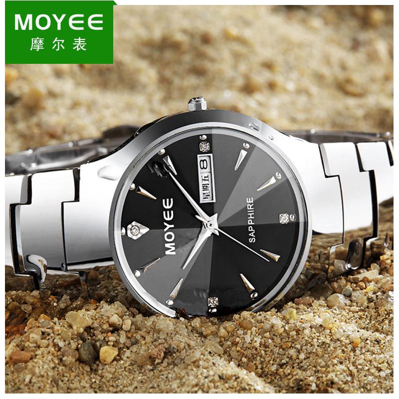 6摩尔原装瑞士男表正品钨钢手表男士商务防水全自动石英机械腕表