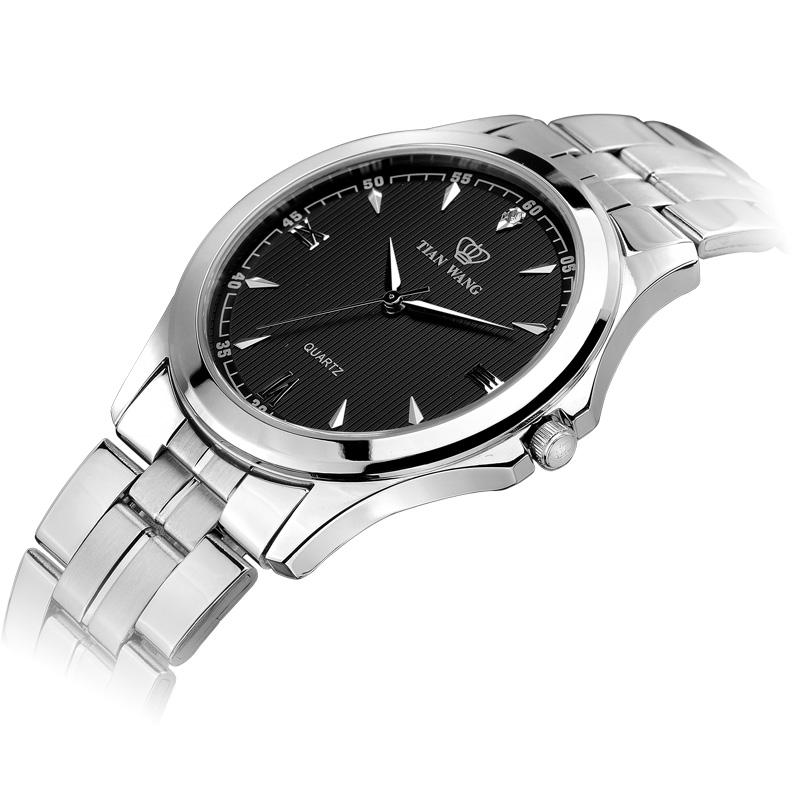 热卖天王手表男款石英表男士手表精钢商务复古男表防水GS3570