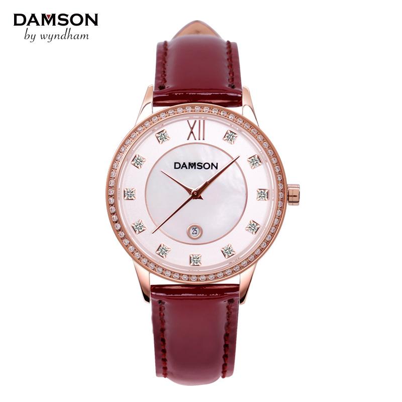 DAMSON瑞士手表 女表 女士腕表 时装表 石英表防水 皮带休闲手表