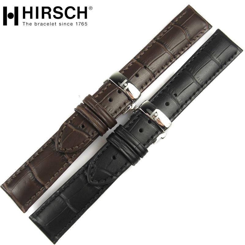 奥地利海奕施双按蝴蝶扣小牛真皮表带男手表带19 20 22mm顺丰包邮