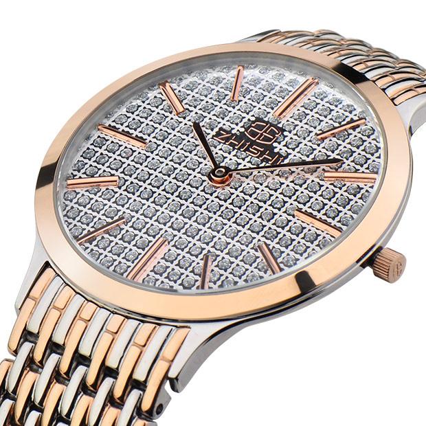 满天星超薄手表 名牌知时男表 精钢带商务表 正品防水 男士石英表