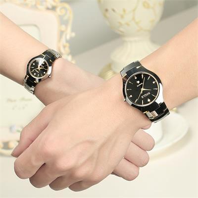 瑞士手表男女正品男女士钨钢情侣手表一对价防水日历男表石英女表
