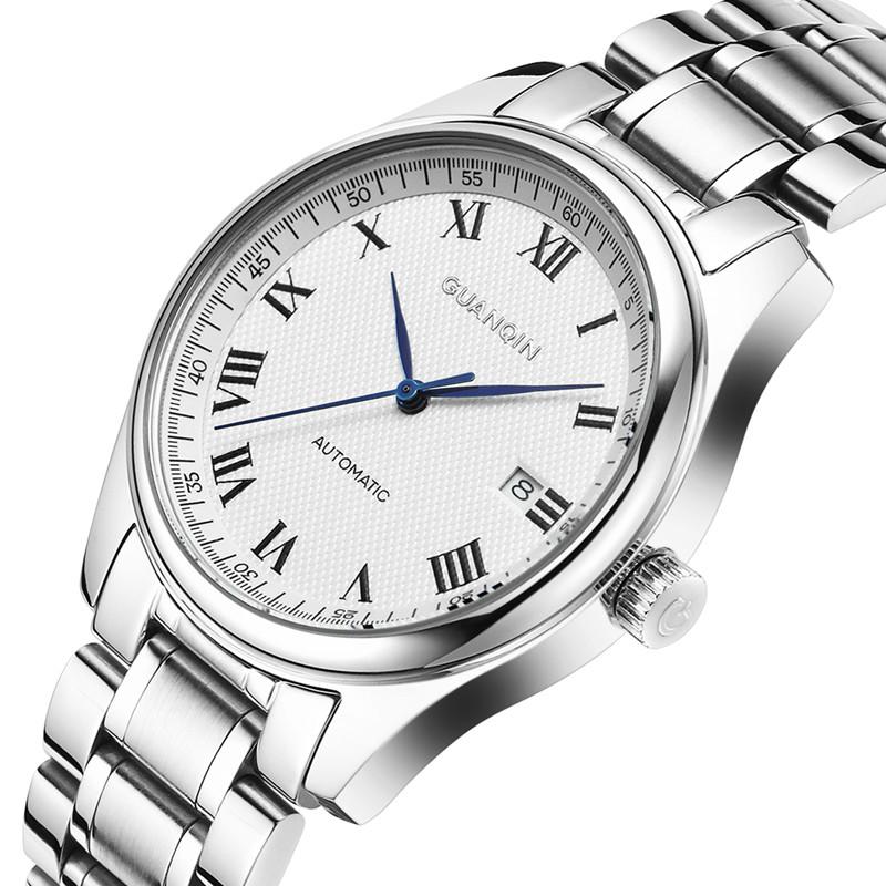 冠琴正品瑞士手表男士全自动机械表防水休闲商务手表时尚简约男表